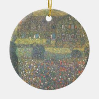 Ornement Rond En Céramique Gustav Klimt - maison de campagne par l'art