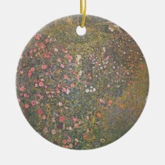 Ornement Rond En Céramique Gustav Klimt - paysage horticole italien