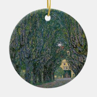 Ornement Rond En Céramique Gustav Klimt - peinture de jardin