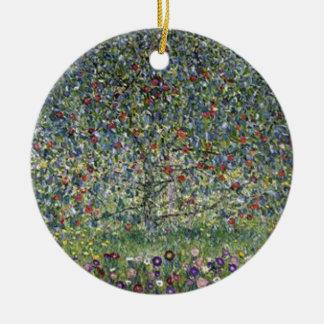 Ornement Rond En Céramique Gustav Klimt - peinture de pommier