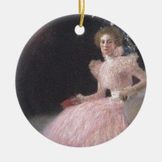 Ornement Rond En Céramique Gustav Klimt - portrait de Bildnis Sonja Knips