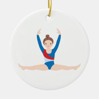 Ornement Rond En Céramique Gymnastique
