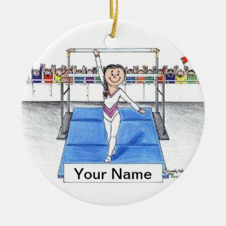Ornement Rond En Céramique Gymnastique - femelle