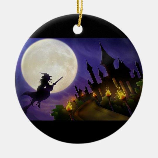 Ornement Rond En Céramique Halloween