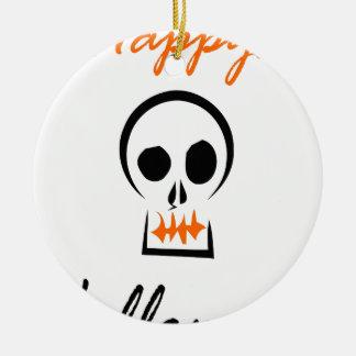 Ornement Rond En Céramique Halloween heureux