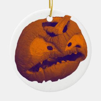 Ornement Rond En Céramique Halloween Jack-o'-lantern 2017