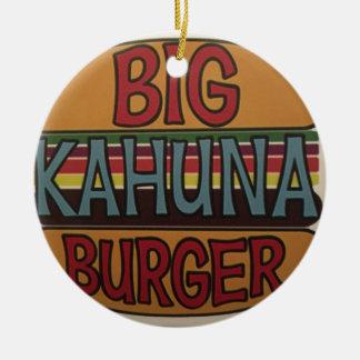 Ornement Rond En Céramique Hamburger de Kahuna