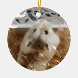 Ornement Rond En Céramique Hammyville - hamster mignon