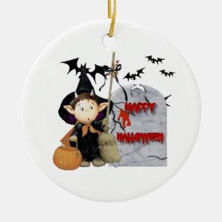 Ornement Rond En Céramique Happy Halloween -