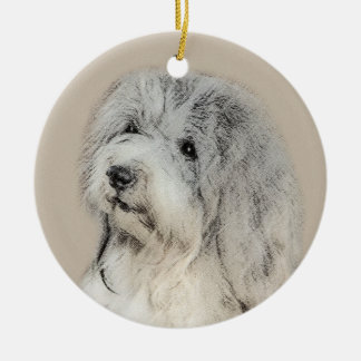 Ornement Rond En Céramique Havanese (sable d'or)