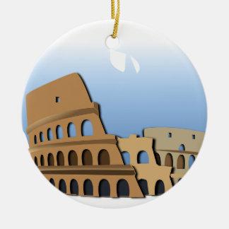 Ornement Rond En Céramique Histoire antique Italie de Colisé de Coliseo Roma