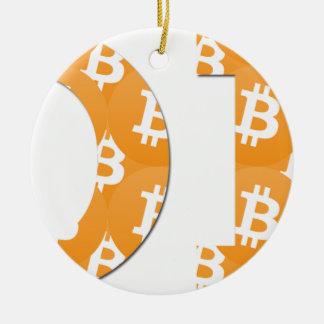 Ornement Rond En Céramique Hodl Bitcoin