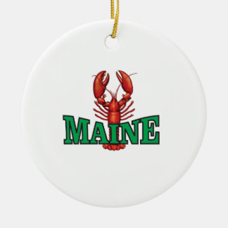 Ornement Rond En Céramique homard vert du Maine
