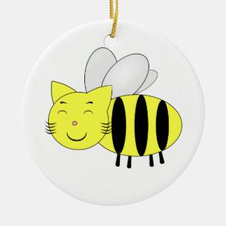 Ornement Rond En Céramique Honeycat