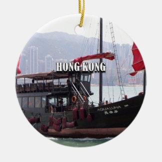 Ornement Rond En Céramique Hong Kong : Ordure chinoise