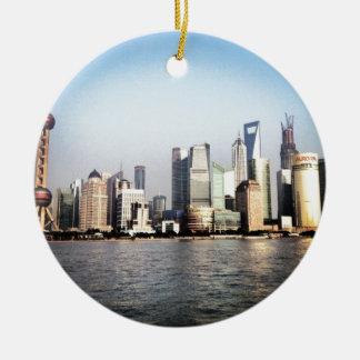 Ornement Rond En Céramique Horizon de Changhaï Chine
