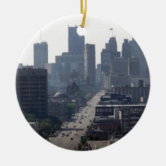 Ornement Rond En Céramique Horizon de Detroit Michingan