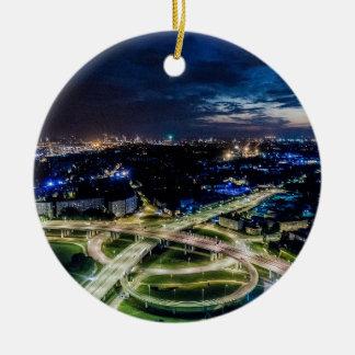 Ornement Rond En Céramique Horizon de nuit de Riga