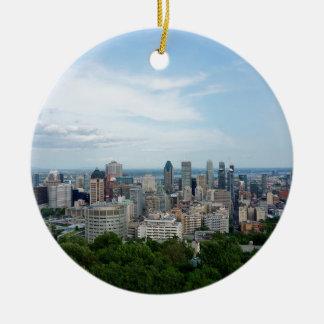 Ornement Rond En Céramique Horizon de ville de Montréal