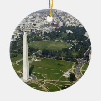 Ornement Rond En Céramique Horizon de Washington DC