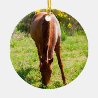 Ornement Rond En Céramique horse