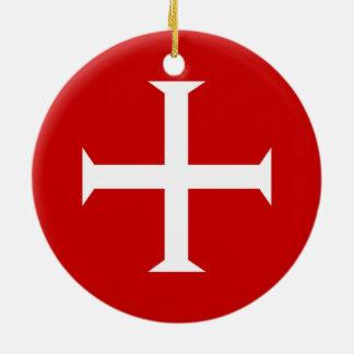 Ornement Rond En Céramique hospitall teutonic templar de Malte de Croix-Rouge