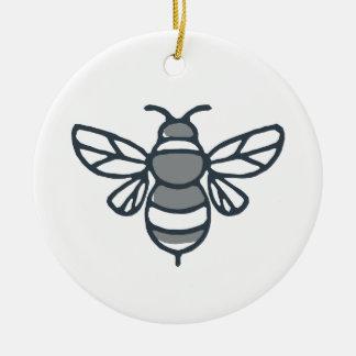 Ornement Rond En Céramique Icône d'abeille de bourdon