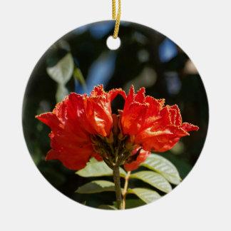 Ornement Rond En Céramique iFlowers d'un tuliptree africain