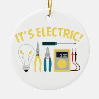 Ornement Rond En Céramique Il est électrique