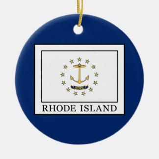 Ornement Rond En Céramique Île de Rhode