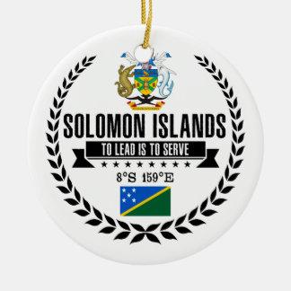 Ornement Rond En Céramique Îles Salomon
