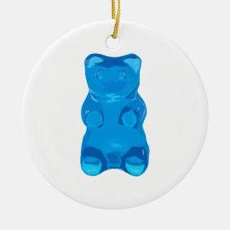 Ornement Rond En Céramique Illustration bleue de Gummybear