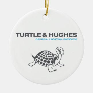 Ornement Rond En Céramique Illustration de tortue et de Hughes