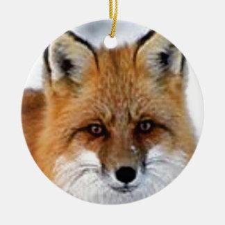 Ornement Rond En Céramique image de fantaisie de renard