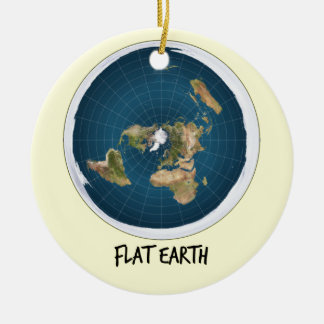 Ornement Rond En Céramique Image de la terre plate