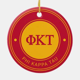 Ornement Rond En Céramique Insigne de Tau | de Kappa de phi