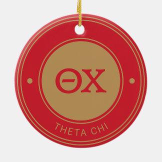 Ornement Rond En Céramique Insigne du Chi   de thêta