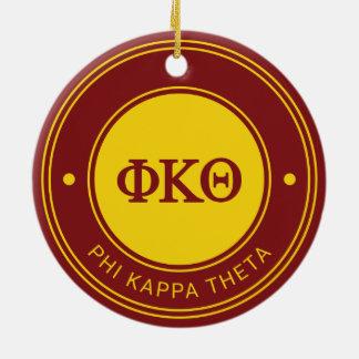 Ornement Rond En Céramique Insigne du thêta   de Kappa de phi