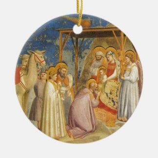 Ornement Rond En Céramique Inspiré-Bible bénissant bon Jésus de peinture