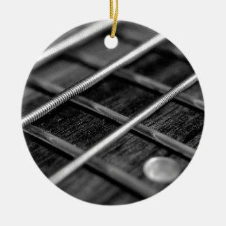 Ornement Rond En Céramique Instrument de bruit de roche de musique de guitare