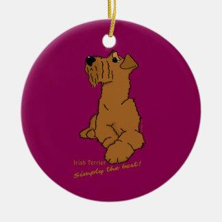 Ornement Rond En Céramique Irlandais terrier - Simply best the !