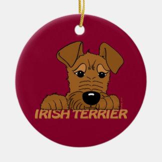 Ornement Rond En Céramique Irlandais terrier tête Cute