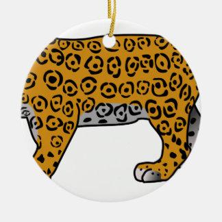 Ornement Rond En Céramique Jaguar