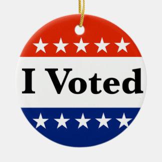 Ornement Rond En Céramique J'ai voté 2018 élections
