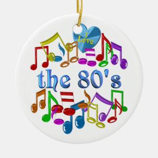 Ornement Rond En Céramique J'aime les années 80