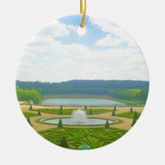 Ornement Rond En Céramique Jardin de Versailles