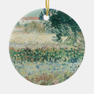 Ornement Rond En Céramique Jardin de Vincent van Gogh | en fleur, Arles, 1888