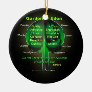 Ornement Rond En Céramique Jardin d'Éden