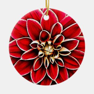 Ornement Rond En Céramique Jardin floral de fleurs de pétales de fleur de