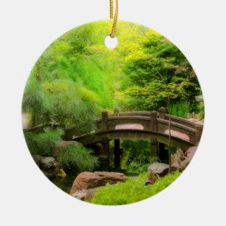 Ornement Rond En Céramique Jardin japonais - l'eau sous le pont